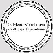 Dr Elvira Veselinović Staatlich Geprüfte übersetzerin